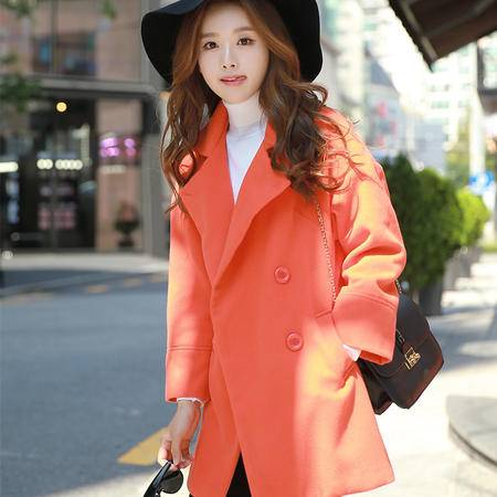 Mssefn2015韩版休闲毛呢外套呢子大衣YF2079-301