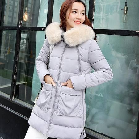 Mssefn2015冬季时尚新款韩版女装冬装新品中长款女士棉衣外套YS201