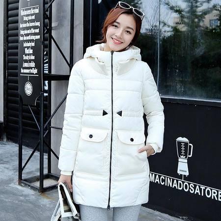 Mssefn2015冬季时尚新款韩版女装冬装新品中长款女士棉衣外套YS203