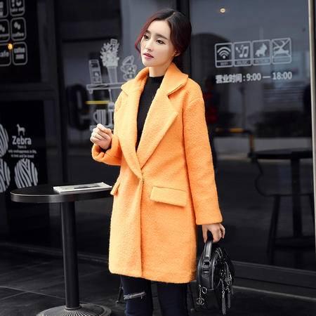 mssefn2015秋冬新款保暖加棉加厚茧型呢大衣 318 p135