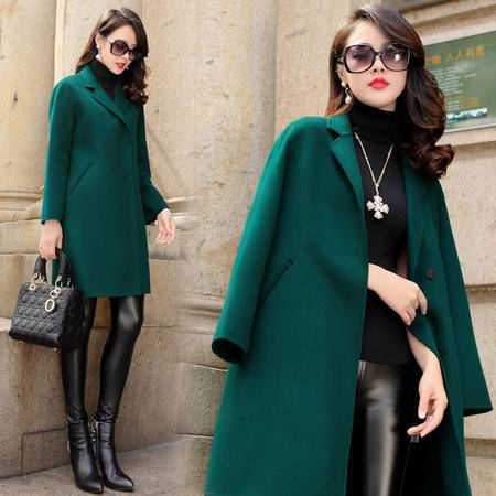MSSEFN2015冬季时尚英伦新款女装秋冬新品中长羊毛呢大衣外套YS8093