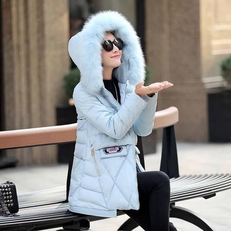 mssefn2015冬款时尚修身羽绒棉服韩版显瘦新款棉袄女