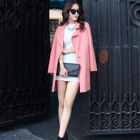 MSSEFN2015冬季时尚英伦新款女装秋冬新品羊毛呢大衣外套YS15003