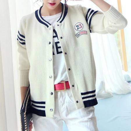 mssefn2015秋冬新款 韩版长袖显瘦短款毛衣针织 开衫外套女