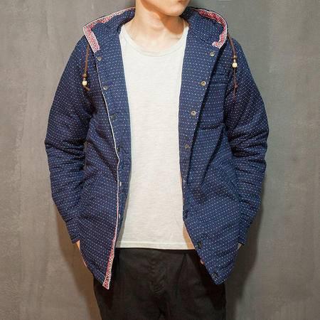 mssefn2015男装棉服日系复古小清新男生连帽棉衣男式棉袄潮