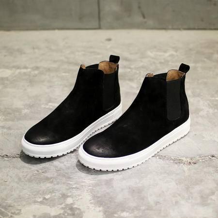 MSSEFN2015复古做旧水洗染切尔西靴男真皮靴119-B190