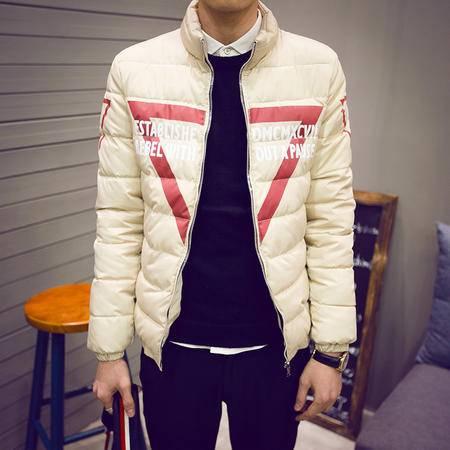 MSSEFN2015冬装韩版男士立领三角棉衣修身外套9916