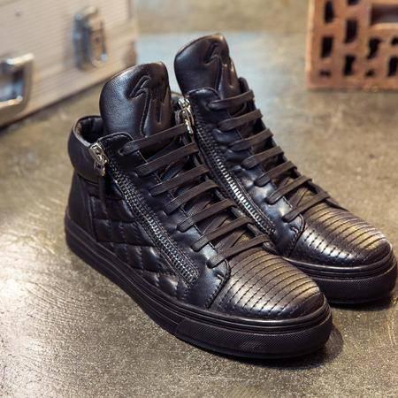 MSSEFN2015秋冬新款韩版男鞋潮流系带休闲鞋男真皮鞋子男皮鞋188