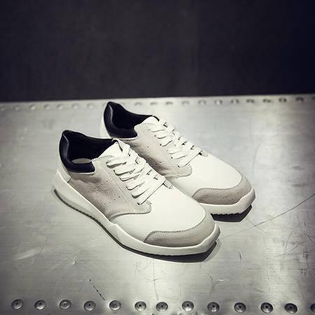 MSSEFN2015新款欧美百搭方底解构潮鞋男士时尚韩版鞋子潮流板鞋男