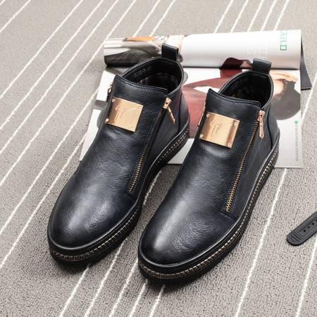 MSSEFN2015高帮板鞋短靴子保暖休闲英伦潮鞋真皮皮靴5023A-5735