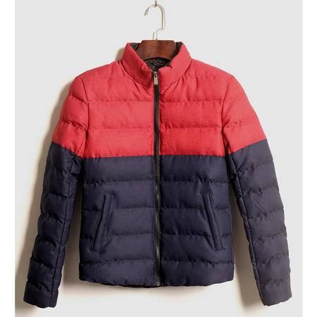 mssefn2015高品质厚 羽绒棉 撞色拼接外套男棉衣新款