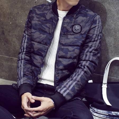 MSSEFN2015冬季韩版修身加厚棉衣外套小清新迷彩棉服棉袄