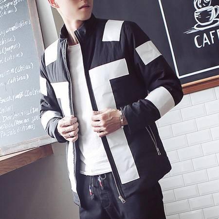 mssefn店主风2015新款韩版修身时尚休闲棉衣外套男