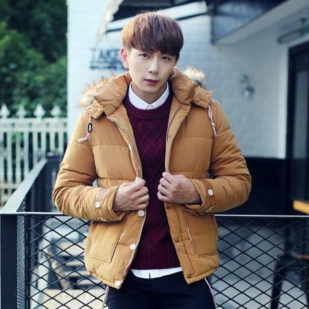 MSSEFN2015冬季棉衣外套男韩版加厚保暖毛领棉服棉袄学生潮流