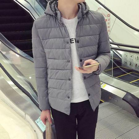 MSSEFN2015冬季新款 韩版店主风 男士帽可脱卸棉衣 棉袄