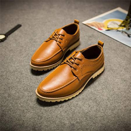 MSSEFN2015新款秋冬休闲运动商务鞋板鞋男鞋男士休闲皮鞋1207-BK73