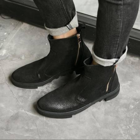 MSSEFN2015厚底 双拉链 套筒马丁男靴