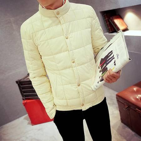 mssefn2015新款高品羽绒棉外套男皮衣加厚修身短棉皮衣