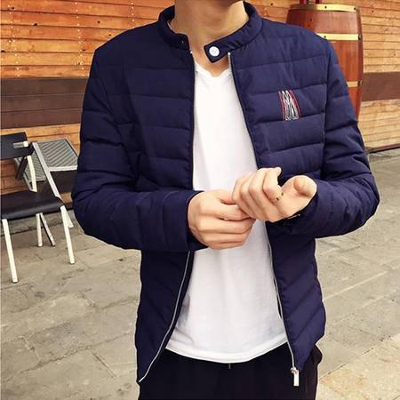 mssefn2015秋冬新款 棉衣外套小立领15冬装新款男士时尚个性潮流修身
