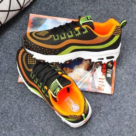 MSSEFN2015秋冬季新款男鞋品牌运动鞋男休闲鞋青少年学生厚底跑步鞋A15