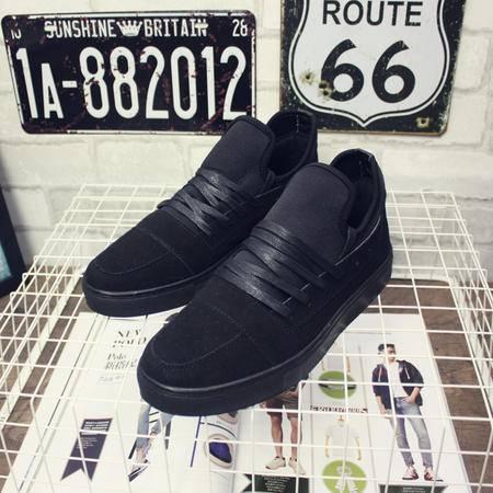 MSSEFN2015欧美风秋冬新款潮男系带复古磨砂皮纯色休闲板鞋