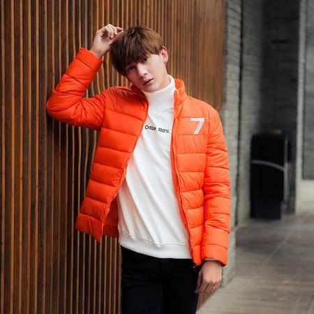 mssefn2015冬季新款韩版日系潮男学院风修身棉衣加厚保暖7字棉袄