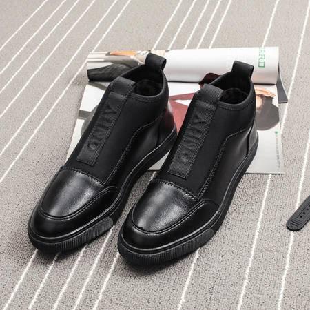 MSSEFN2015工装靴男高帮皮鞋男士加棉靴子潮流男鞋