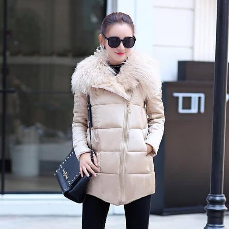 MSSEFN2015中长款棉袄冬季新款大码羽绒棉衣韩版修身棉服棉外套