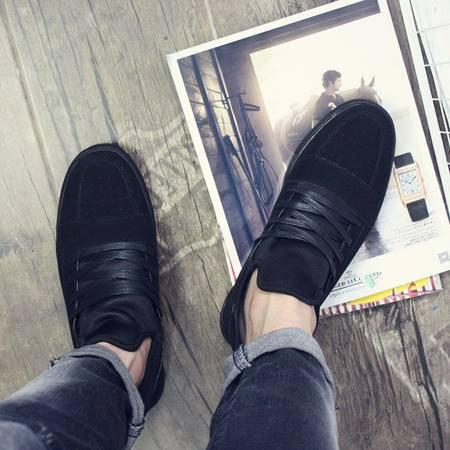 MSSEFN2015秋冬新款GD风潮牌系带男鞋日系复古磨砂皮纯色休闲板鞋X717