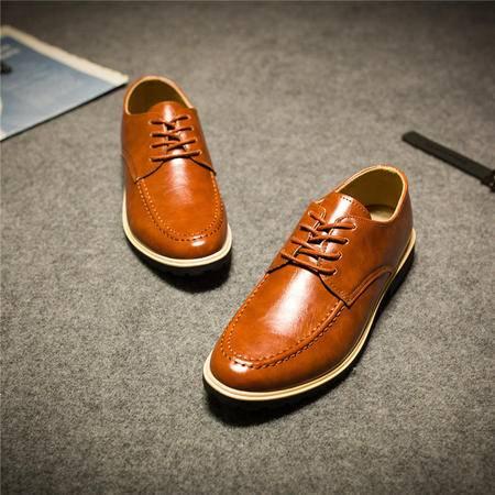MSSEFN2015新款男士商务休闲运动休闲男鞋秋冬板鞋皮鞋1207-BK70