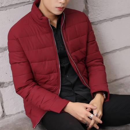 mssefn2015加厚棉衣 韩版修身纯色冬装男士外套羽绒棉加厚棉衣