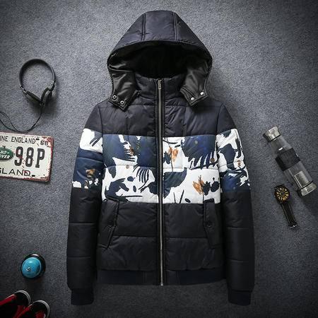 mssefn2015冬款可脱卸连帽高品质大码胖子男装棉衣棉服