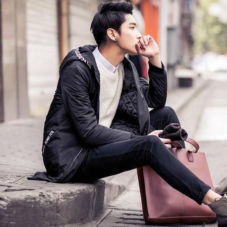 MSSEFN2015冬装新款韩版修身男装大码理发师青年外套棉衣