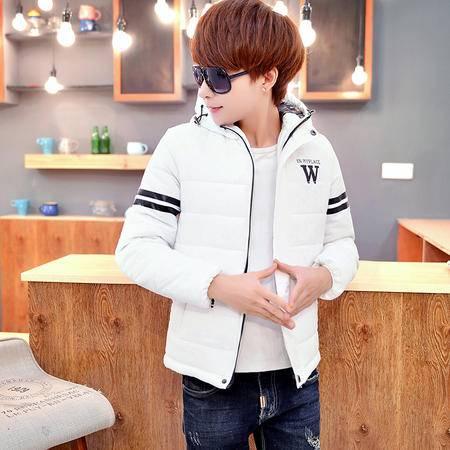 mssefn2015冬装男款韩版修身外套棉衣男青少连年帽短款棉袄棉服
