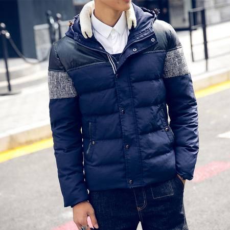 mssefn2015羽绒服90%白鸭绒2015纳斯鲁新款冬装男士连帽羽绒服男