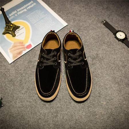 MSSEFN2015新款秋冬休闲时尚运动板鞋皮鞋男士男鞋1207-BK74