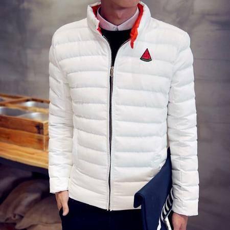 mssefn2015冬装棉衣男韩版修身外套棉服男青少年学生短款棉袄