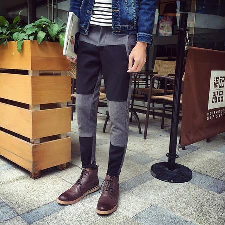 MSSEFN2015男士休闲裤韩版潮男修身小脚哈伦裤青少年男裤长裤686-AK10