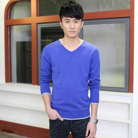 MSSEFN爆版青年毛衣男套头韩版针织衫男英伦学生