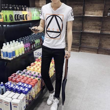 Mssefn2016男士短袖印花V领T恤 A206_T8003