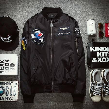 MSSEFN春装新款时尚潮男士棒球服卫衣夹克外套228-8802-P90 平铺2