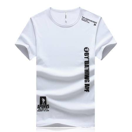 MSSEFN夏季男士圆领休闲竖条字母大码短袖T恤 款号DT0207 P20