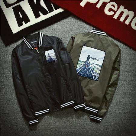 MSSEFN春装新款时尚潮男士棒球服卫衣夹克外套228-8801-P90平铺2