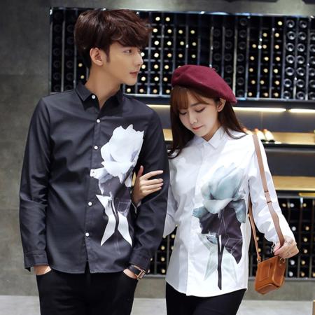MSSEFN爆款韩版修身情侣装衬衫男女衬衣潮1099-C01-P55