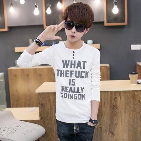 MSSEFN新品潮时尚小青年休闲修身套头长袖纯色衬衫788-C79-F50