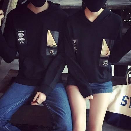MSSEFN春装韩版原宿bf风印花套头圆领情侣卫衣外套Y306=P58男装类目