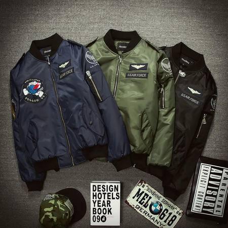 MSSEFN春装新款时尚潮男士棒球服 卫衣夹克外套228-8802-P90平铺2
