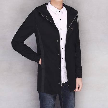 MSSEFN春款时尚潮男士风衣夹克外套 中长款299-8903-P110模特2