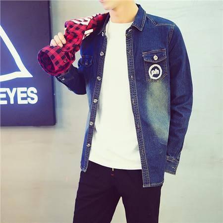 MSSEFN春装单排扣 韩版修身 上身俱佳牛仔小夹克 男