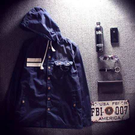 MSSEFN春款日系个性男士冲锋式休闲夹克男外套 W45 P70
